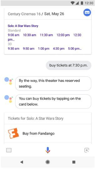 Now Google Assistant lets you buy movie tickets in partnership with Fandango