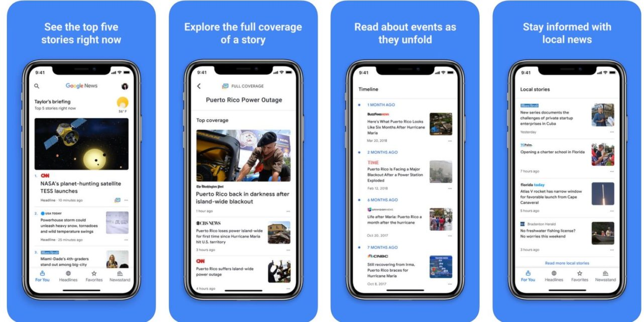AI-powered Google News app is now available on iOS