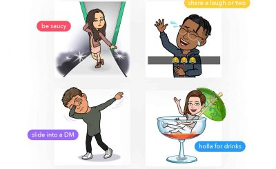 Now Tinder lets you send Bitmoji Via Snap kit