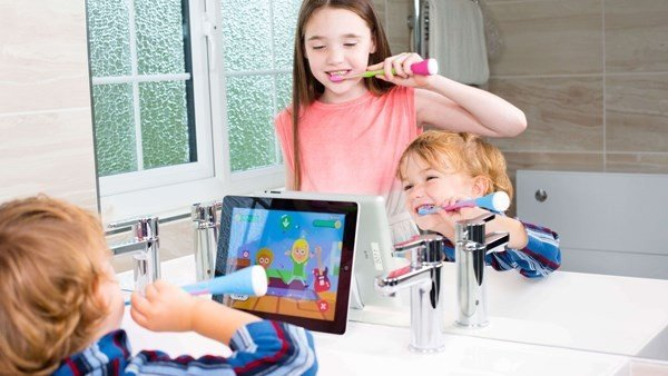 This Smart electric toothbrush encourages kids to brush their teeth via interactive gaming