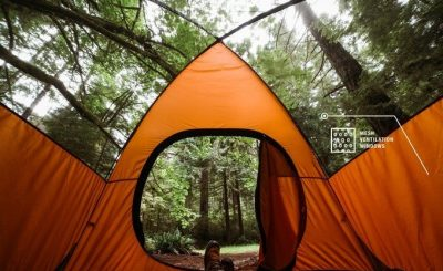 elf-healing tent that repairs holes and punctures itself by friction