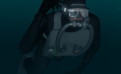 U.S Navy's mask-mounted head-up displays for combat divers works even in Zero visibility conditions