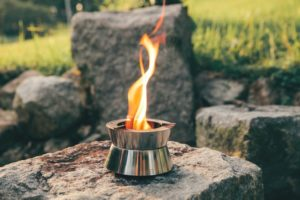 Gas free pocket-sized camping stove (Ember) for stress-free outdoor cooking