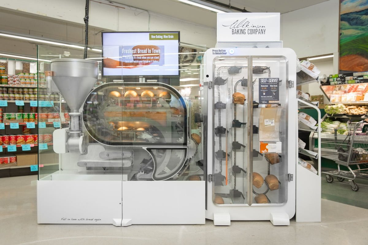 Breadbot- Robotic mini bakery makes 235 loaves of bread per day and self-cleanable
