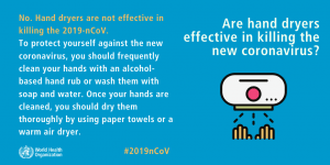 Hand Dryers Covid-19 Myth Busters